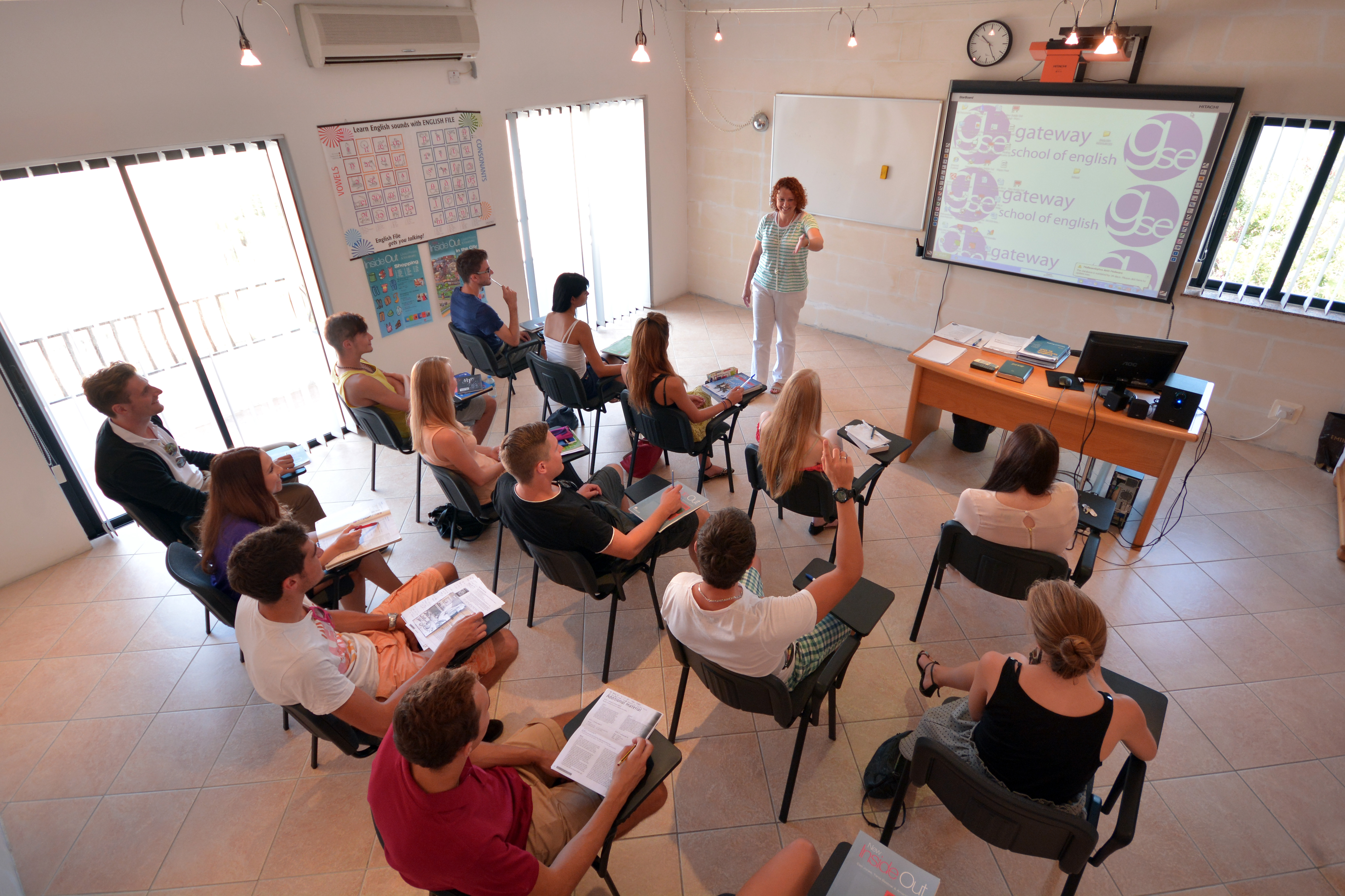 GSE Malta Classroom with interactive whiteboard 2 1024x683